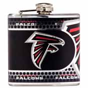 Atlanta Falcons Stainless Steel 6 oz. Flask with Metallic Graphics