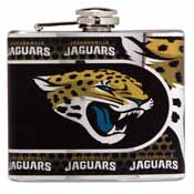 Jacksonville Jaguars Stainless Steel 6 oz. Flask with Metallic Graphics