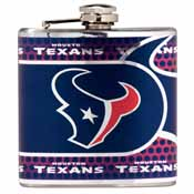 Houston Texans Stainless Steel 6 oz. Flask with Metallic Graphics