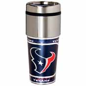 Houston Texans 16 oz. Stainless Steel Travel Tumbler Metallic Graphics