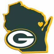 Green Bay Packers Home State Decal