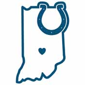 Indianapolis Colts Home State Decal