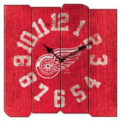 Detroit Redwings Vintage Square Clock