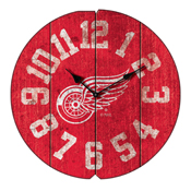 Detroit Redwings Vintage Round Clock