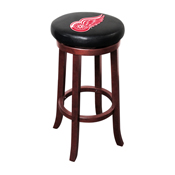 Detroit Redwings Wooden Bar Stool