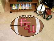 Florida State FS Logo Football Rug 20.5x32.5