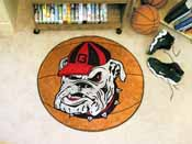 Georgia Bulldogs Basketball Mat 27 diameter