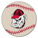 Georgia Bulldogs Baseball Mat 27 diameter