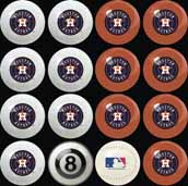 Houston Astros Home VS. Away Billiard Ball Set