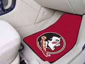 Florida State Seminoles 2-piece Carpeted Car Mats 17in x 27in