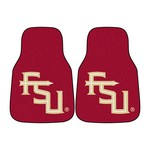 Florida State FS Logo 2-piece Carpeted Car Mats 17x27
