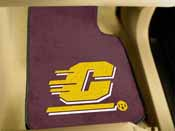 Central Michigan 2-piece Carpeted Car Mats 17x27