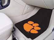 Clemson 2-piece Carpeted Car Mats 17x27