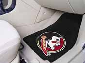 Florida State Seminoles 2-piece Carpeted Car Mats 17x27