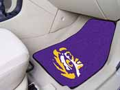 Louisiana State 2-piece Carpeted Car Mats 17x27