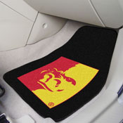 Pittsburg State 2-PC Carpeted Car Mats 17x27