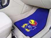 Kansas 2-piece Carpeted Car Mats 17x27