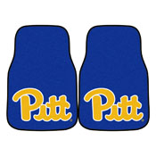 Pittsburgh 2-piece Carpeted Car Mats 17x27
