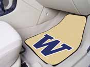 Washington 2-piece Carpeted Car Mats 17x27