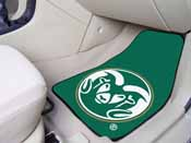 Colorado State 2-piece Carpeted Car Mats 17x27