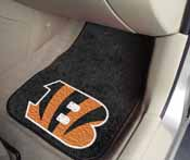 NFL - Cincinnati Bengals 2-piece Carpeted Car Mats 17x27