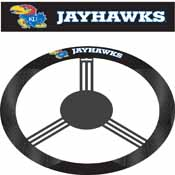 Kansas Jayhawks Poly-Suede Steering Wheel Cover
