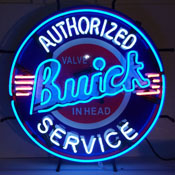 Buick Neon Sign With Backing