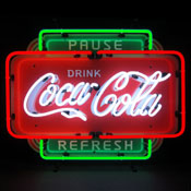 Coca-Cola Pause Refresh Neon Sign