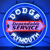 Dodge Dependable Service Neon Sign