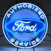 Ford Authorized Service Neon Sign With Backing