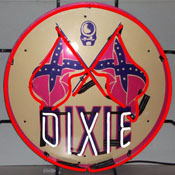 Gas - Dixie Gasoline Neon Sign