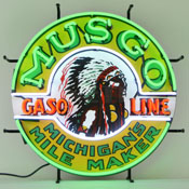 Gas - Musgo Gasoline Neon Sign