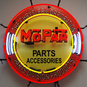 Mopar Circle Neon Sign