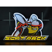 Dodge Scat Pack Neon Sign With Backing