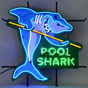 Pool Shark Neon Sign With Backing 24