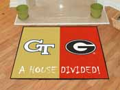 Georgia Tech - Georgia House Divided Rugs 33.75x42.5