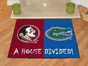 Seminoles - Florida House Divided Rugs 33.75x42.5