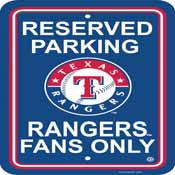 Texas Rangers Plastic Parking Sign