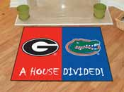 Georgia - Florida House Divided Rugs 33.75x42.5