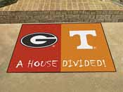 Georgia - Tennessee House Divided Rugs 33.75x42.5