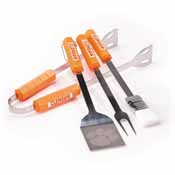 Clemson Tigers 4 Pc Bbq Set