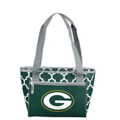 Green Bay Packers Quatrefoil 16 Can Cooler Tote