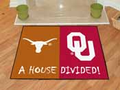 Texas - Oklahoma House Divided Rugs 33.75x42.5