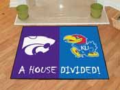 Kansas - K-State House Divided Rugs 33.75x42.5