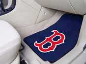 MLB - Boston Red Sox 2-piece Carpeted Car Mats 17x27