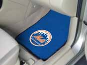 MLB - New York Mets 2-piece Carpeted Car Mats 17x27
