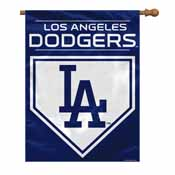 Los Angeles Dodgers 2-Sided 28 X 40 House Banner