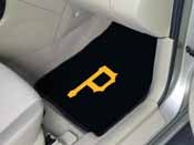 MLB - Pittsburgh Pirates 2-piece Carpeted Car Mats 17x27