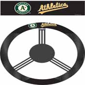 Oakland Athletics Poly-Suede Steering Wheel Cover