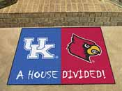 Kentucky - Louisville House Divided Rug 33.75x42.5